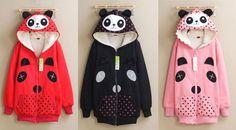 Jaket Hoodie Panda Polka 3 Warna  Satuan: 1 biji. Bahan: Baby Terry. Ukuran: Fit L.  Jaket Hoodie Panda Polka dengan gambar kepala panda di atas dan di tengah yang lucu. Terbuat dari bahan baby terry yang nyaman dengan warna yang menarik.  Untuk pemesanan silahkan hubungi salah satu admin di bawah ini:  HP: 082230067995 (SMS Only) Pin BB: 25CE1D30 Whatsapp: 082230067995 Yahoo Messenger: grosirgrosironline Telp kantor: 0352-482642