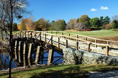 "North Bridge where ""the shot heard 'round the world"" that started the American Revolution happened. Lexington and Concord, Massachusetts."