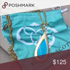 Kendra Scott Rosalie necklace in turquoise Vintage pieces comes with dust bag Kendra Scott Jewelry Necklaces