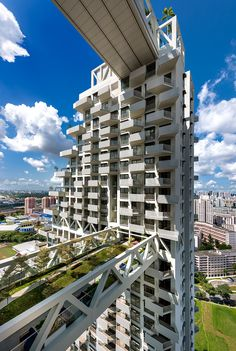 designed by safdie architects, 'sky habitat' is a recently completed residential complex located in bishan, singapore