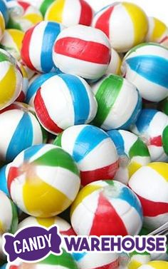 Beach Ball candy, perfect for watching the Summer Olympics!  http://www.candywarehouse.com/products/sassy-spheres-jumbo-beach-balls-hard-candy-5lb-bag/