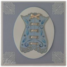 Stitching Corset Card Cardmaking, Corset, Stitching, Decorative Plates, Tableware, Cards, How To Make, Home Decor, Costura