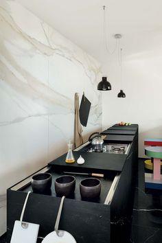 I Classici di Rex - Calacatta Gold #goldmarble #calacatta #marbletiles #porcelain #kitchendecoration