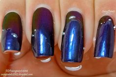 """Sassy Paints: Celestial Cosmetics  """"King Slayer"""" under water to show the color shift"""