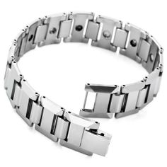Justeel Jewelry Mens Silver Tungsten Black Bead Magnetic Bracelet Links Chain Justeel Jewelry. $19.99. 100% Nickel free. Shipping takes 2-3 weeks from China (USPS Tracking). Excellent Luster and Unimpeachable Rust and Corruption Resistance. Size HxWxL: x0.6x8.3inch; (x16x210mm). Save 75% Off!