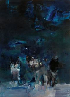 "Juliano Kaglis, ""the wolves"", oil on canvas, 180x130 cm"