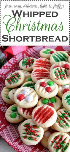 Whipped Christmas Shortbread - Lord Byron's Kitchen Course: DessertCuisine: Christmas Servings: 36 cookies Calories: Author: Lord Byron's Kitchen Ingredients Christmas Cookie Exchange, Christmas Sweets, Christmas Cooking, Christmas Holiday, Xmas Desserts, Christmas Cookie Jars, Best Christmas Cookies, Christmas Kitchen, Christmas Goodies