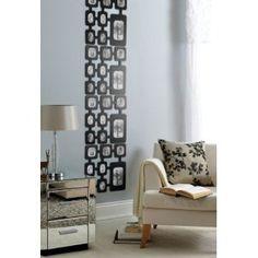 4pk Decorative Photo-Frame Wall Art Panels in Black