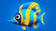Game Icon Design, Cartoon Fish, 3d Face, Kids Zone, Face Characters, Animated Cartoons, 3d Character, Clay Ideas, Rigs