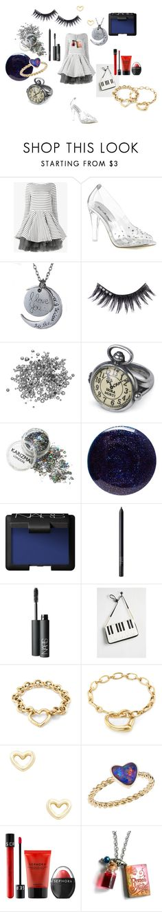 """Whimsical Romantic"" by alisafranklin on Polyvore featuring Natasha Zinko, Fabulicious, Manic Panic NYC, Lauren B. Beauty, NARS Cosmetics, Betsey Johnson, Tiffany & Co., Shashi, Katherine Jetter and Sephora Collection"