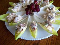 Honey Mustard Chicken Salad in Endive Cups