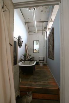 old warehouse bathroom, Alina's Dar Gitane (Home of the Wanderer)