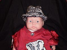 Houndstooth Fedora Hat by ItsAYarnThing on Etsy, $15.00