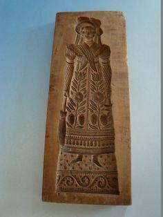 0415A1-025: Holz Model Biedermeier Dame frühes 19 Jhdt.