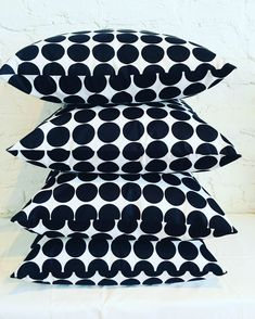 Black & White Polka dots Scatter Cushions  100 %cotton Ankara wax print  Quality duck feather inner  50cm x 50cm