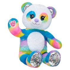 Let the panda-monium begin with this rainbow panda plush toy from Rainbow Friends featuring rainbow fur and sparkly paw pads. Shop stuffed animals at Build-A-Bear! Panda Stuffed Animal, Stuffed Animals, Blue Gift, Cute Plush, Build A Bear, Baby Girl Blankets, Cute Panda, Felt Animals, Panda Bear