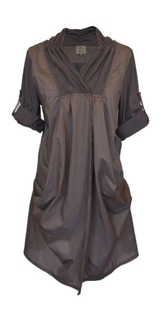 I'd have to wear something under it like a long sleeve shirt, but it's very interesting looking, and it has pockets!  Ancient Tunic http://www.dogstar.com.au/
