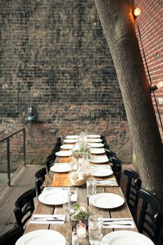 #tablescapes  Photography: Isabelle Selby Photography - isabelleselbyphotography.com  Read More: http://stylemepretty.com/2013/09/23/brooklyn-backyard-wedding-from-isabelle-selby/