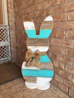 A personal favorite from my Etsy shop https://www.etsy.com/listing/497699214/wood-standing-bunny-31-inch-easter-bunny