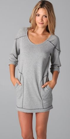 C&C; California Sweatshirt Dress - would love this with leggins & boots for a lazy day!