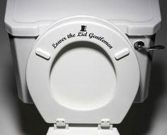 """Put Me Down"" - Toilet Seat Bathroom - Humor Funny Reminder Potty Training Vinyl Sticker Decal Copyright © 2014 Yadda-Yadda Design Co. Bathroom Decals, Bathroom Toilets, Bathroom Humor, Bathroom Signs, Eco Bathroom, Bathroom Artwork, Bathroom Stuff, Bathroom Layout, White Bathroom"