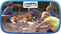 TRUCK TEAM! Toy Construction Trucks for Children. Liebherr Toys & Bruder Toys.Videos for kids! - YouTube