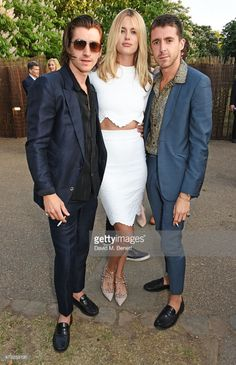 alex turner, taylor bagley and miles kane attend the serpentine gallery summer party at the serpentine gallery on july 2, 2015 in london, england.