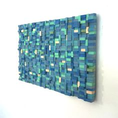 Wall Sculpture  Sea Shore Wood Blocks by TateLowe on Etsy, $220.00
