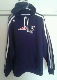 New England Patriots NFL Football Team Apparel Blue Hoodie Sweater XL NEW Brady #NFLTeamApparel #NewEnglandPatriots---SOLD!