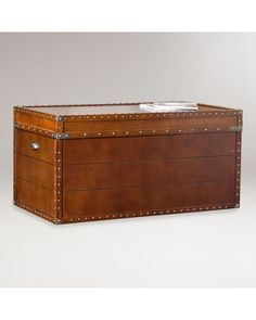 This steamer trunk can double as a coffee table and storage! Get it here: http://www.bhg.com/shop/world-market-steamer-trunk-cocktail-table-p50057beb82a75e55847c7e62.html?mz=a