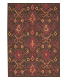 Another great find on #zulily! Brown Vista Rug by Nourison #zulilyfinds
