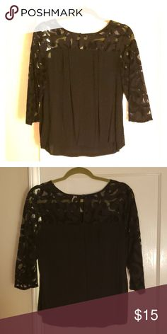 c29a2076ba08b Navy blue Blouse Navy blue blouse. Lace neck and arms. Old Navy Tops Blouses