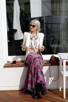 abbey lee, right? love the boho chic Hippie Stil, Estilo Hippie, Boho Chic, Bohemian Style, Bohemian Skirt, Gypsy Skirt, Gypsy Chic, Mode Style, Style Me