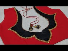 Very Simple and Beautiful Blouse Back Neck Design Cutting and Stitching Blouse Back Neck Designs, Patch Work Blouse Designs, Hand Work Blouse Design, Simple Blouse Designs, Stylish Blouse Design, Blouse Neck Models, Blouse Designs Catalogue, Churidar Neck Designs, Fancy Dress Design
