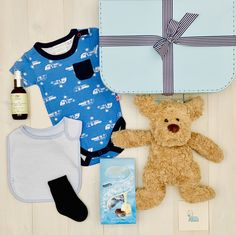 Barney The Dog Beautiful baby hamper full of only the best brands such as Marquise Baby Clothing, Lhami organic skincare and Red Baby Republic soft toys. Baby Hamper, Baby Baskets, Baby Massage, Massage Oil, Baby Presents, Unique Baby Gifts, Baby Dogs, Baby Boutique
