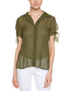 Spotted this Beyond Vintage Jungle Swiss Dot Silk Shirt on Rue La La. Shop (quickly!).