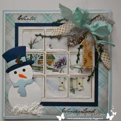 Bilderesultat for marianne design icicle window 3d Cards, Cool Cards, Christmas Cards, Christmas Presents, Christmas Diy, Christmas Decorations, Snowman Cards, Window Cards, Santa Sleigh