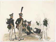 Line Infantry 1812, Musketeer (38th regiment), Grenadier, musketeers sitting.
