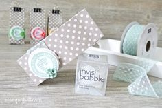 Mini Milchkarton Stampin´ Up! In Color Süße Stückchen Invisi Bobble Blütenakzente invisibobble geschenkschachtel