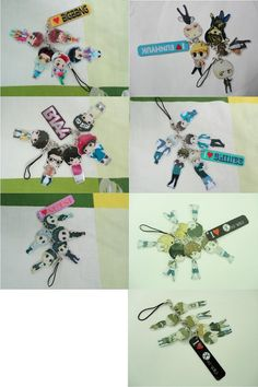 B1A4 SHINee NU'EST Bigbang Eunhyuk(Super Junior)  EXO exo K exo M Pvc Chibi Cartoon Phone Strap Kpop super cute Korea Korean
