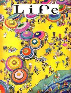 Life Magazine Copyright 1930 Beach Life Birds Eye View - www.MadMenArt.com…