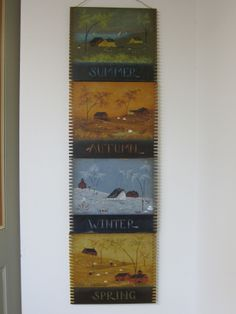 These are 4 separate patterns (one for each season) that I've wired together. I love them displayed all together as a banner!