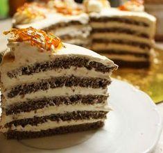 Kastély torta - Blikk Rúzs Hungarian Desserts, Vanilla Cake, Tiramisu, Cookie Recipes, Cake Decorating, Food And Drink, Candy, Homemade, Cookies