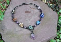 Chakra Balancing Tumbled Stones Macrame Necklace - Made to Order $44.56 http://www.etsy.com/listing/130510840/chakra-balancing-tumbled-stones-macrame?ref=shop_home_active