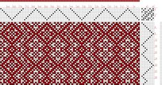 Hand Weaving Draft: Threading Draft from Divisional Profile, Tieup: Kris Bruland, Draft #102, Threading: Weber Kunst und Bild Buch, Marx Ziegler, (1677) # 27, Treadling: Weber Kunst und Bild Buch, Marx Ziegler, (1677) # 13, 8S, 8T - Handweaving.net Hand Weaving and Draft Archive
