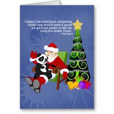 Cute panda Christmas card