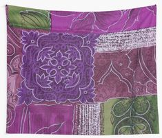 If you love green, purple and pink then you will love this green purple and pink zen garden home decor and style collection Tapestry Wall Hanging, Wall Hangings, Pink Garden, Cool Walls, Window Coverings, Tapestries, Green And Purple, Duvet, Zen