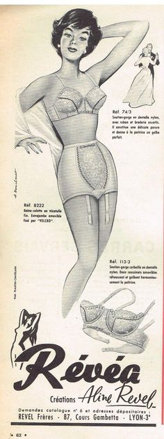 Publicité Advertising 1961 Lingerie Sous Vetements Soutien Gorge Gaine Révéa | eBay******I agree with everything they said in the ad, I think.