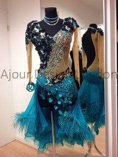 Ajour Design London Latin Ballroom Dresses, Latin Dresses, Dance Costumes Lyrical, Dance Outfits, Dressmaking, Beautiful Dresses, Ball Gowns, Dancer, Swimsuits