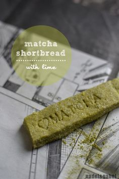 matcha shortbread with lime